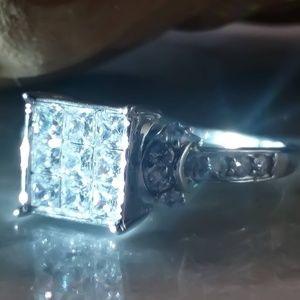 10k White Gold Ring.. 2.07ctw Bella Luce CZ